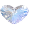 Crazy 4 U Heart 37mm Aurora Borealis Crystal